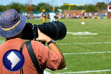a sporting event photographer - with Washington, DC icon