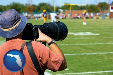 a sporting event photographer - with Florida icon