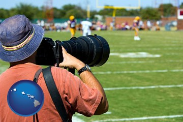 a sporting event photographer - with Hawaii icon