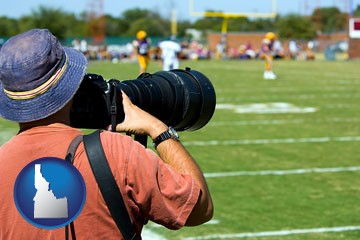 a sporting event photographer - with Idaho icon
