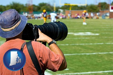 a sporting event photographer - with Rhode Island icon