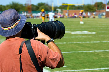 a sporting event photographer
